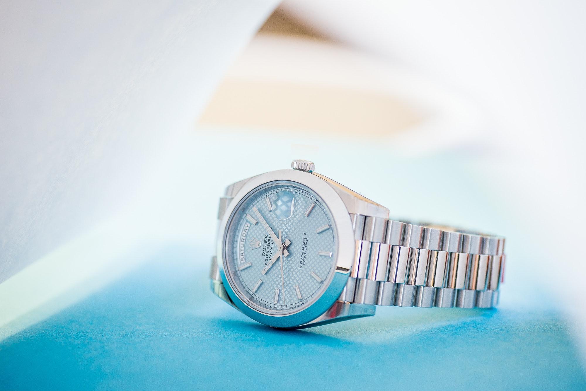 Die Rolex Day-Date aus Platin mit einem President Platinarmband