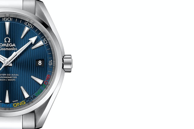 "This week in watch news – check out the upcoming Omega Seamaster Aqua Terra ""PyeongChang 2018"" Limited Edition"