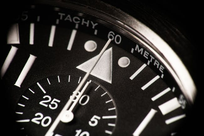 A timely question – the meaning of two dots and a triangle on a pilot's watch