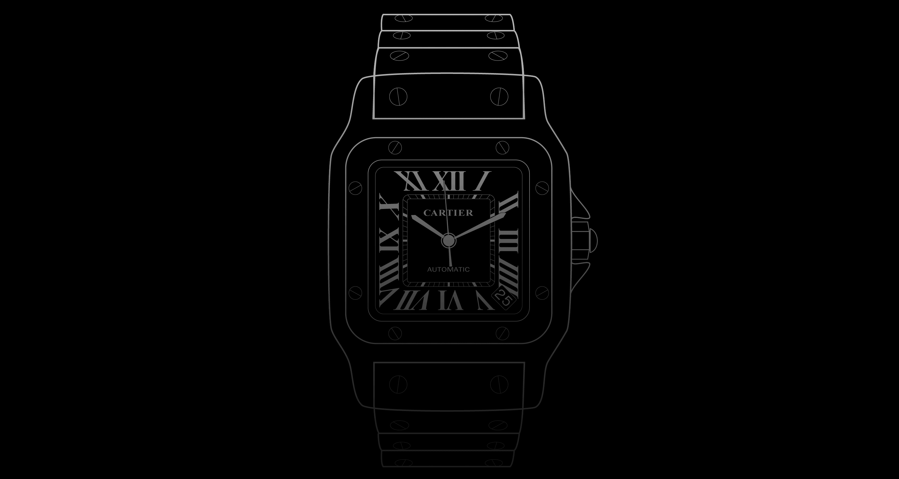 white santos dial image x watches steel cartier